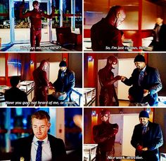 "#TheFlash 1x18 ""All Star Team Up"" - Barry, Eddie and Joe"