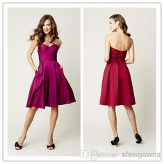 2014 Fashion A Line Sweetheart Knee Length Backless Cocktail Dresses | Buy Wholesale On Line Direct from China