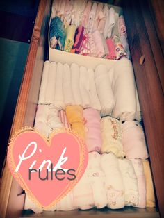 How to store newborn clothes for easy access.