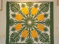 Hawaiian Pineapple quilt spotted on the island of Kauai