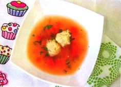 Soup with veal meatballs recipe for children older than 8 months.