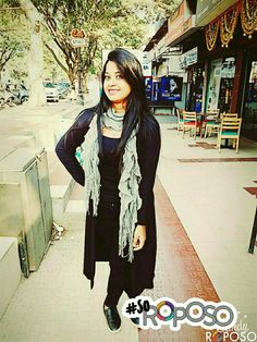 All black with a hint of grey! Love the look from 😍👸 All Black, Sassy, Punk, India, Grey, Anime, Style, Fashion, Gray