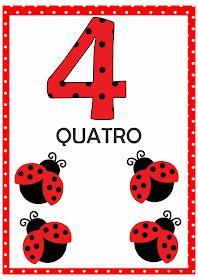 Numerais Joaninha para Imprimir Grátis 1st Grade Worksheets, Preschool Worksheets, Math Activities, Flashcards For Kids, Numbers Preschool, Ladybug Party, Snoopy Love, Bird Theme, Step Kids