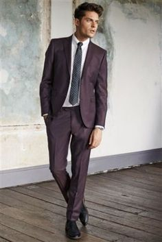 Buy Burgundy Suit: Jacket from the Next UK online shop | Three ...
