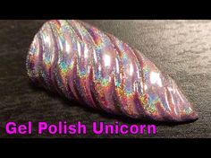 How to Make a Unicorn Horn Nail with Gel Polish - YouTube (Yes I know this is a nail tutorial, but I love her HAIR.)
