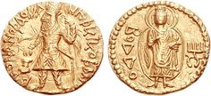 CA1 A Rare and Highly Important Kushan Gold Dinar of Kanishka I, the Fourth Known Gold Dinar with a Depiction of The Buddha | Flickr - Photo Sharing!