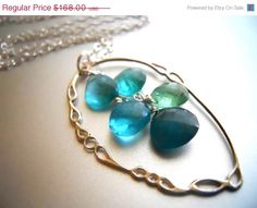 NECKLACE SALE ends 12/15 Apatite Necklace Rare by SueanneShirzay