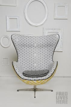Fred gets creative with the Egg Chair- Fred Lives Here