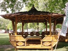 mobilier en bambou | Kiosque de jardin hexagonal en bambou | jardin ...