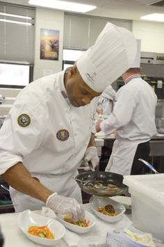 Culinary specialists 2nd class kenneth marshal left and gerald culinary specialists 2nd class kenneth marshal left and gerald winley plate their dish for presentation during the navy region southwest culinary forumfinder Choice Image