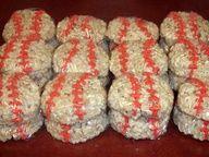 baseball rice crispy treats I need to make these for Zacks T-ball team.