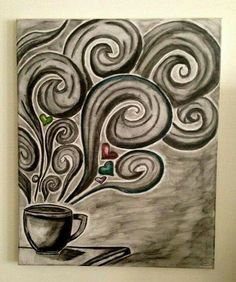 Coffee swirls (idea for a Zentangle...)