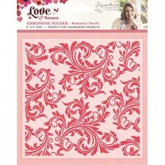 Love and Romance Collection - Romantic Swirls 6x6 Embossing Folder