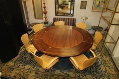 Incredible Rosewood Danish Modern Metamorphic Expanding Round Dining Table C1960 | eBay