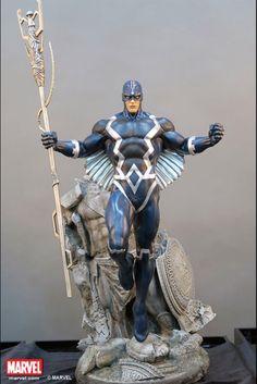 Black Bolt statue by XM Studios. 3d Figures, Anime Figures, Action Figures, Anime Sexy, Marvel Heroes, Marvel Characters, Marvel Avengers, Black Bolt Marvel, Marvel Statues