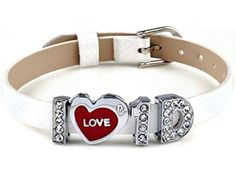 Imixlot® I Love One Direction I Love 1d Handmade Slider Crystal Letter Wristband Bracelet