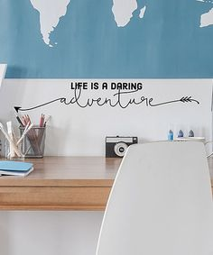 Another great find on #zulily! 'Life is a Daring Adventure' Wall Quotes™ Decal #zulilyfinds