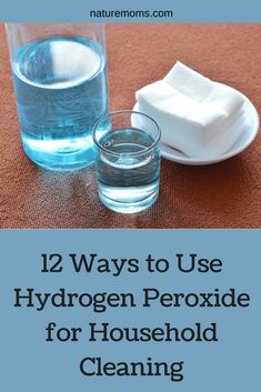 12 Ways to Use Hydrogen Peroxide for Household Cleaning , Uses for Hydrogen Peroxide -It is a seriously underrated cleaning and disinfecting tool to have around the house. Here are a few of the ways in which you can use hydrogen peroxide. Natural Cleaning Recipes, Homemade Cleaning Products, Natural Cleaning Products, Cleaning Hacks, Cleaning Wipes, Cleaning Supplies, Cleaning With Hydrogen Peroxide, Lemon Uses, Charcoal Teeth Whitening