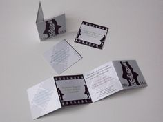 Faire part de mariage Cinéma : Faire-part par naturalgraph