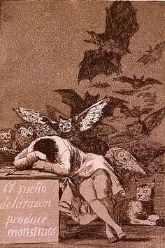 GOYA il sonno della ragione genera mostri