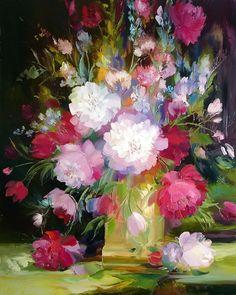 Maher Art Gallery: Alexander Sergeev 1968 | Flowers russian painter