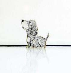 Vintage Modernist Dog Figurine / Abraham by SergeantSailor on Etsy