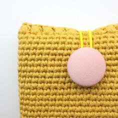 crocheted MacBook sleeve