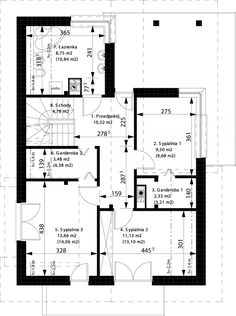 Projekt domu Aosta II Termo 130,27 m2 - koszt budowy 191 tys. zł - EXTRADOM Floor Plans, Stairs, House Design, Architecture, Houses, Loft Ideas, Home Plans, Cottage, Modern