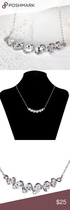 🆕 Stunning Silver Sparkle Necklace Brand new. Jewelry Necklaces