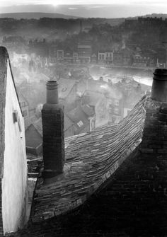 "arsvitaest:  "" Edwin Smith, Roofscape, Whitby, North Yorkshire, 1959  """