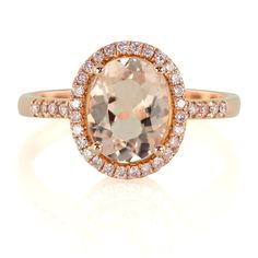These Unique Engagement Rings Will Change Your Mind About Diamonds - Morganite and Pink Diamond Ring