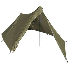 Inspired by a 30 year old Mountainsmith design, this lightweight backcountry shelter sets up fast with two trekking poles (or properly positioned trees) and offers solid weather protection for two from the elements with it's sil-nylon body. Survival Shelter, Survival Prepping, Camping Survival, Survival School, Zombies Survival, Survival Hacks, Apocalypse Survival, Homestead Survival, Survival Tools
