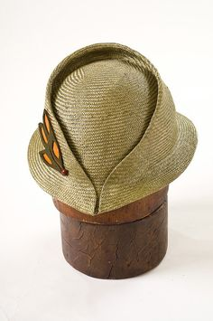 Istra-Hand Sculpted 1930's Style Cloche by Corina Haywood