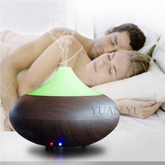 Difusor de Aceite esencial de Aromaterapia Humidificador de Aire Mute Ultrasónico Fabricante de La Niebla Purificador Aroma Difusor LLEVÓ La Noche La Luz Cambiante