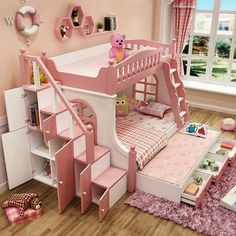 "Explore our site for even more details on ""bunk beds for kids boys"". It is a great spot to find out more. Baby Bedroom, Girls Bedroom, Bedroom Decor, Wall Decor, Bed For Girls Room, Little Girl Rooms, Room For Two Kids, Kids Bedroom Designs, Kids Room Design"