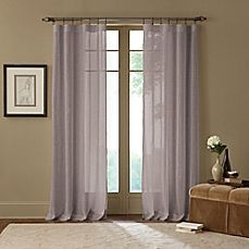image of Cambria® Terra X-Inch Rod Pocket Sheer Window Curtain Panel in