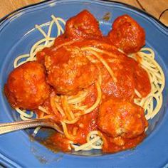 Italian Meatballs in Tomato Sauce. This dish takes a little while to make, but the results are really worth it. Homemade pork and beef meatballs are simmered in a rich and delicious tomato sauce. Serve with pasta.