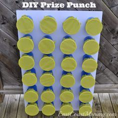 DIY Prize Punch... easy and inexpensive game for children's parties. (Uses dollar store supplies.) Easy Birthday Party Games, Camping Party Games, Easy Party Games, Summer Party Games, Superhero Party Games, Activities For Birthday Parties, Spring School Party Ideas, Party Game Prizes, Crafts For Birthday Parties