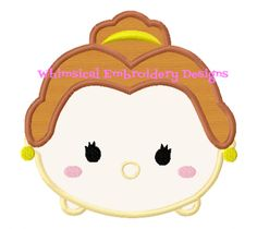 Belle Tsum Tsum Machine Embroidery Applique Design INSTANT DOWNLOAD - Whimsical Embroidery Designs