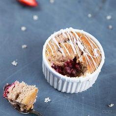 White Chocolate & Strawberry Self Saucing Pudding [Move Nourish Believe]
