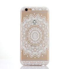 White Henna Sun Lace Print Transparent iPhone Case