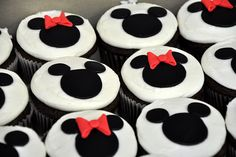 40|365 {Minnie and Mickey Mouse Cupcakes} by Stevie Jeannont, via Flickr