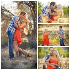 Outdoor Country Engagement Photos,  Michael Johnathan Photography