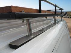 The roof rack is our own design based around design queues taken from the Truck Roof Rack, Car Roof Racks, Van Conversion Build, Camper Van Conversion Diy, Vw T5, Volkswagen, Motorhome, Jeep Tire Carrier, Jeep Wrangler Camper