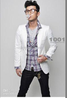 Wholesale New arrivel Men's one button white blazer / New Fashion Stylish Men's Suits, Free shipping, $34.76-39.79/Piece | DHgate