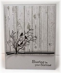 Scrappin' and Stampin' in GJ The card - stamped images are from SU.  The wood grain background is stamped with smoky slate on smoky slate card stock.  The image is stamped in black.