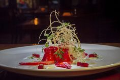 Beet-cured ocean trout at Iyasare. Photo: John Storey / Special To The Chronicle / ONLINE_YES