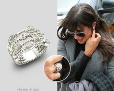 Lea Michele arrives at her hotel, New York City, March 6, 2013  Thanks prettylittle-fashionista!  David Yurman 4-Row Confetti Ice Ring - $825.00  Worn with: Chanel sunglasses, Mason by Michelle Mason coat, Givenchy bag, Citizens of Humanity jeans, Barneys New York Co-Op boots