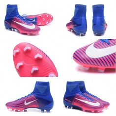 087f6398396 Nike Mercurial Superfly 5 FG 2017 New Firm Ground Boot - Pink Blue White