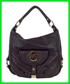 Michael Kors Fulton Leather Large Shoulder Bag, Dark Chocolate - Hobo bags (*Amazon Partner-Link)